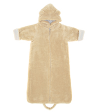 Angel Dear Zip Front Hooded Fuzzy Bunting